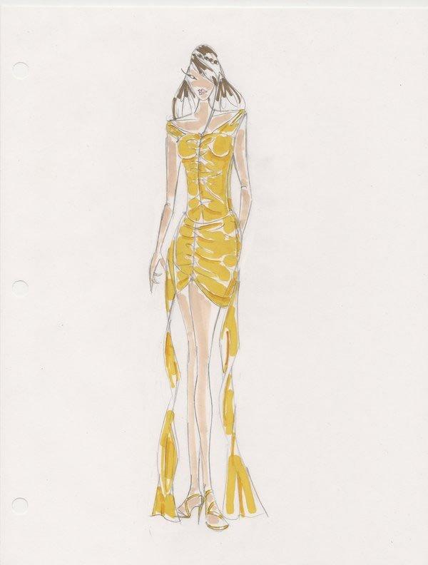 彩色铅笔画 服装