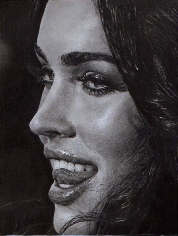 明星铅笔素描画