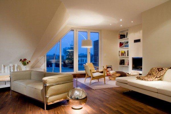 优雅的顶楼公寓设计