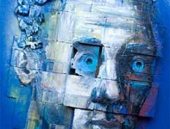 英国艺术家NickGentry:电脑磁盘上