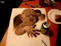 fredo疯狂的3D铅笔画艺术
