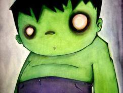 动漫人物:绿巨人Hulk插画欣赏