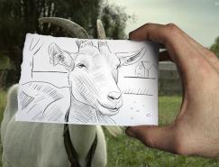比利時藝術家BenHeine融入照片的素描畫