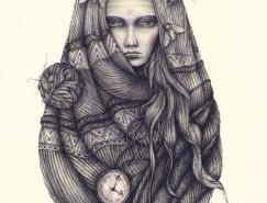 BrettManning漂亮的墨水画作品