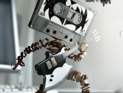 KissFM摇滚音乐电台创意海报设计