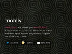 沉稳的黑色在网站中的应用实例