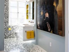 漂亮的浴室馬賽克瓷磚鑲嵌藝術