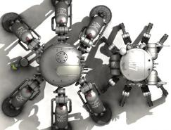 超逼真3D机器人CG作品