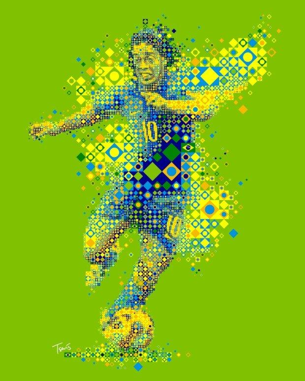 60张漂亮的马赛克肖像插画作品(6)