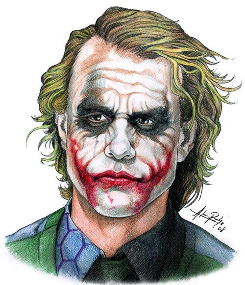 动漫人物:小丑the joker插画欣赏