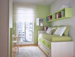 国外一组紧凑的青少年卧室设计