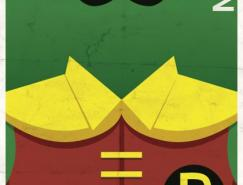 25张超级英雄极简海报作品