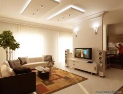 10张国外漂亮的客厅效果图欣赏