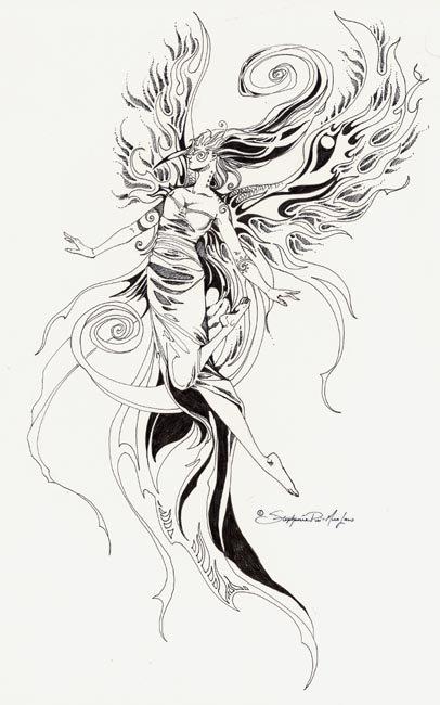 黑白手绘插画人物图片