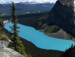 风景秀丽的加拿大路易丝湖