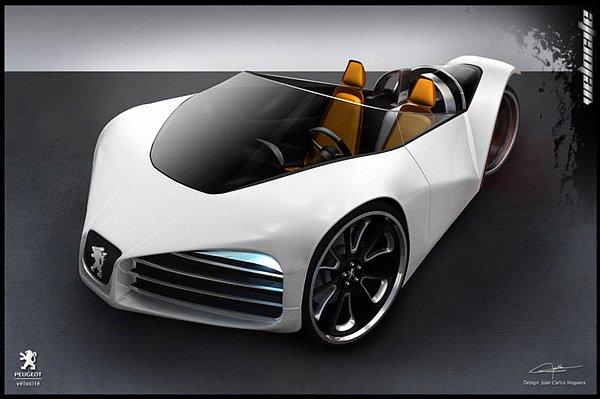 标致Velocite环保三轮概念车 - 设计之家