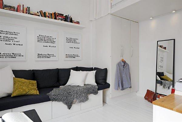 国外一套小户型公寓装修设计