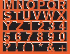 36张创意字母海报设计