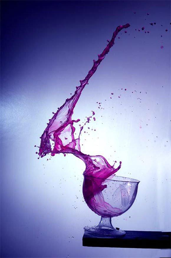 液体高速摄影作品欣赏