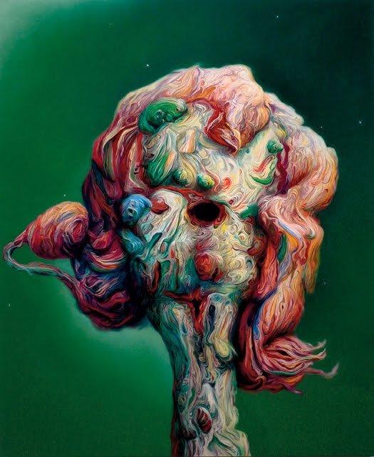 英国艺术家GlennBrown绘画作品欣赏