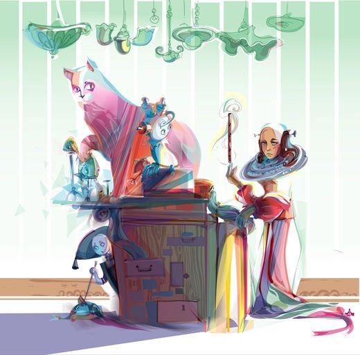 45张漂亮的矢量插画艺术作品(7)