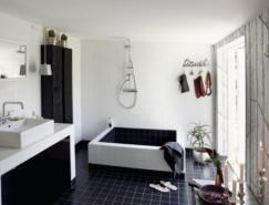 超酷的黑白浴室设计