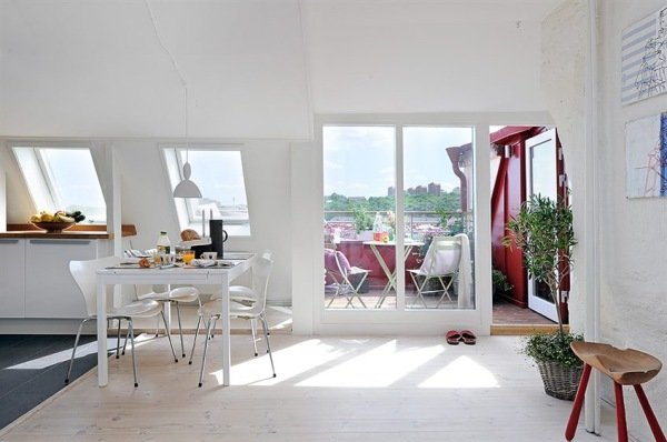 瑞典一套顶楼小公寓设计