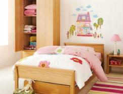 漂亮的儿童房间墙贴装饰