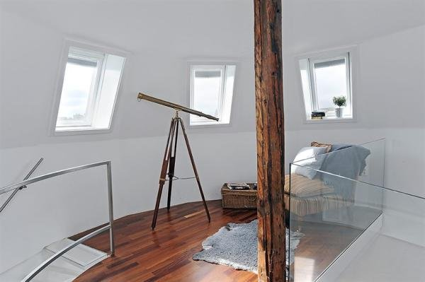 清新漂亮的白色公寓设计
