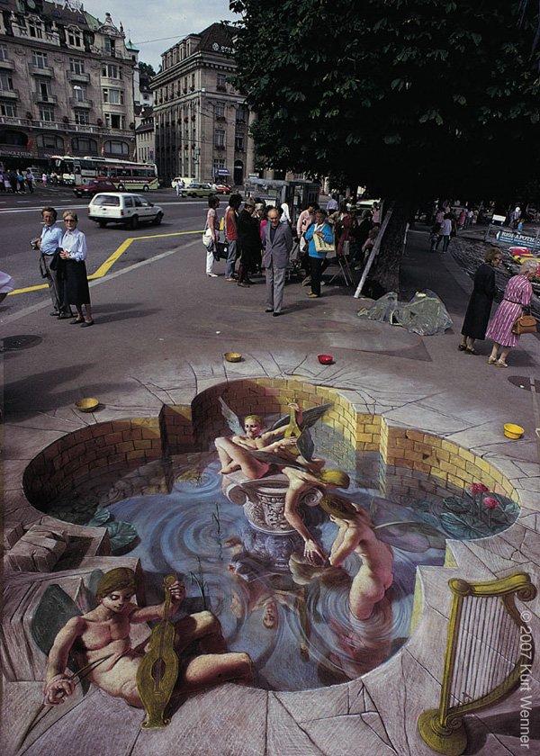 50个超逼真的街头3D艺术