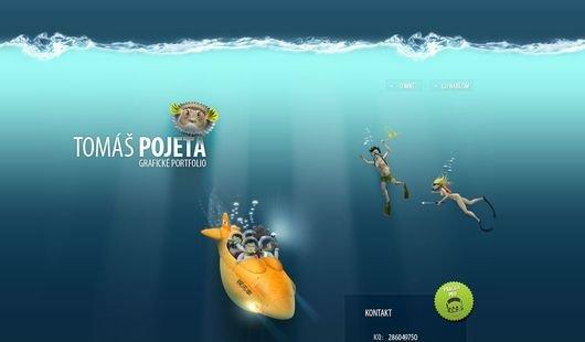 30个水为主题风格的网站设计