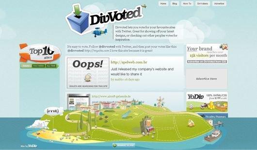 30个水为主题风格的网站设计(2)