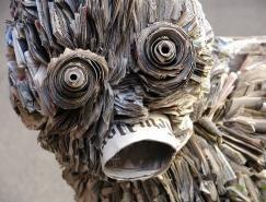 NickGeorgiou创意报纸雕