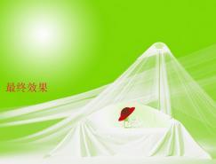 Photoshop抠图教程:抠出透明的薄纱