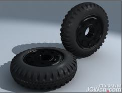 3dsMAX建模实例tb988:制作汽车轮胎