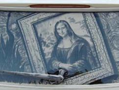 艺术家ScottWade的车窗灰尘画作