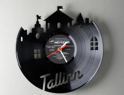 PavelSidorenko黑胶片创意挂钟