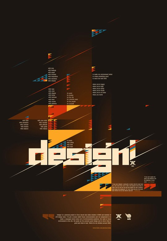 漂亮的文字排版设计:90款国外海报设计