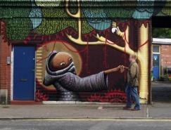 街头绘画艺术:有趣的漫画