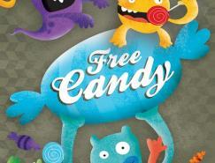 20张可爱的怪物海报