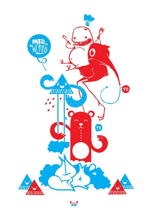 20张可爱的怪物海报 - 设计之家
