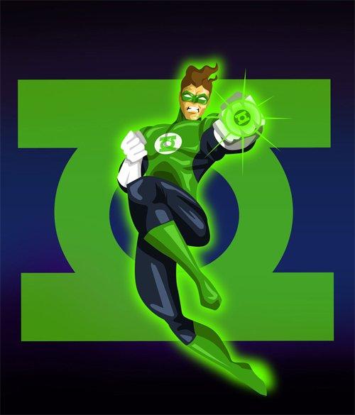30张漫画人物绿灯侠(Green Lantern)插画作品(