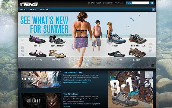 33个国外鞋在线商城设计