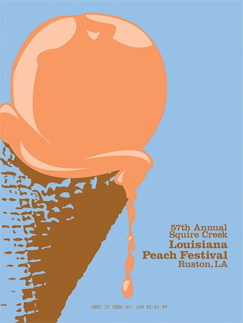 国外一组冰淇淋主题海报设计(2)