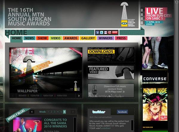 30个国外漂亮的的音乐网站设计(2)