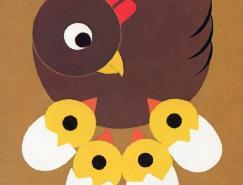 簡潔的動物海報設計欣賞