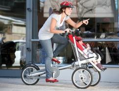 Taga亲子自行车与婴儿推车完美合体