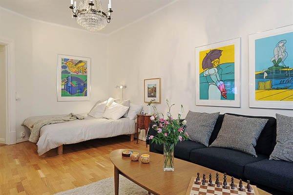 国外50平米小户型单人公寓装修设计