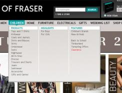 國外一組電子商務網站的用戶界面設計
