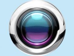 Photoshop制作彩色的不锈钢金属按钮